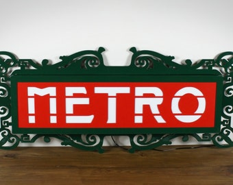 Sign of Métro Parisien - French Metro / Subway sign