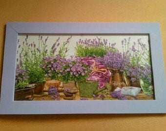 Lavender Still Life picture, Hand made, Decoupage