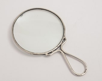 Early 20th C. Sterling Silver Framed Magnifying Glass (ID 47120)