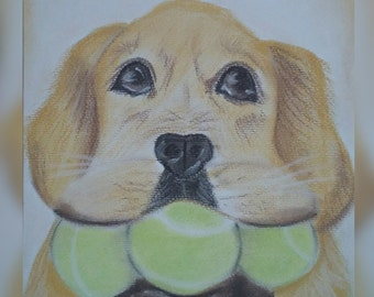 The Fetch (pastel drawing)