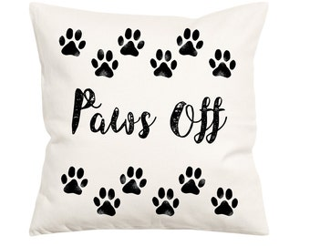 Paws Off Pillow- Decorative Pillow- Pillow Cover