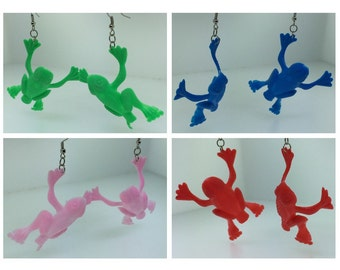 Jumping Frog Toy Earrings