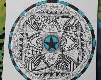 Zentangle drawing / Zentangle Untitled drawing no.. 2