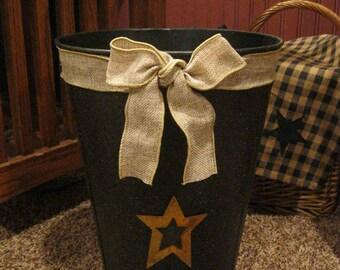Primitive Sap Bucket for Trash or Storage