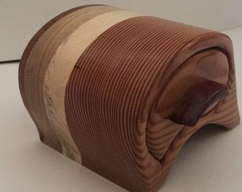 Beautiful handmade wooden jewellery / trinket box