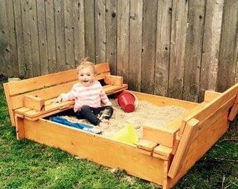 Handcrafted convertable sandbox