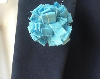 Pale  Blue Mens lapel pin, Lapel pins men, Flower lapel pin, Mens lapel flower, Lapel pin, Lapel flower