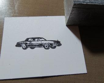 Vintage Zinc/Lead printing block -Car