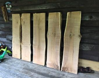 Live edge red oak slabs/tables/mantles