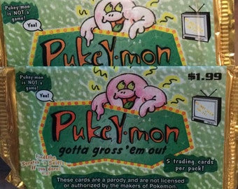 Pukey-Mon trading cards