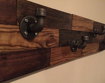 Rustic Pipe Coat Rack