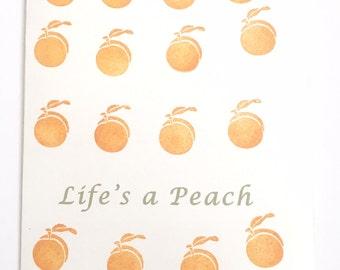 Life's a peach handmade cards