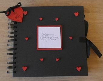 Handmade Personalised Wedding Scrapbook / Photo Album / Gift. Size 8 x 8""