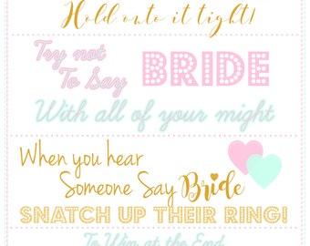 Bride Ring Game