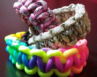 "8"" custom paracord bracelet"