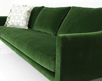 Naples Sofa in Emerald Green Velvet