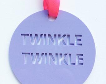 Perspex Twinkle Twinkle Christmas Decoration