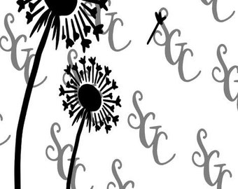Reusable Stencil - Dandelions - Many Sizes to Choose from!