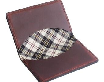 Tartan Fold Wallet, mens, horween, print