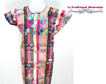 Mexican Blouse: Multicolored Flowers. Ready to send.