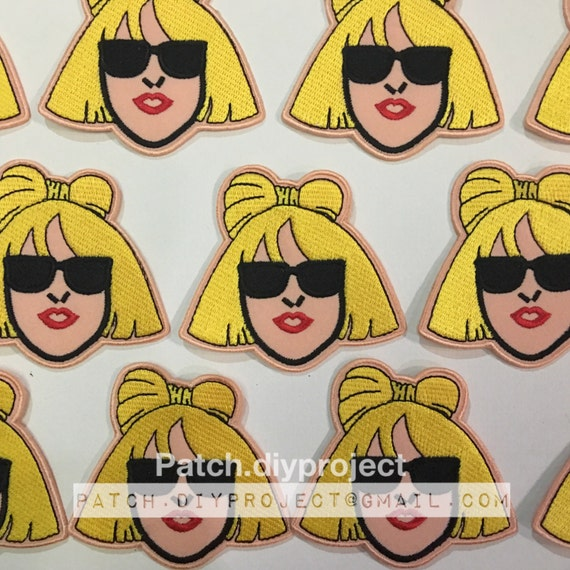 Lady gaga embroidered applique iron on patch