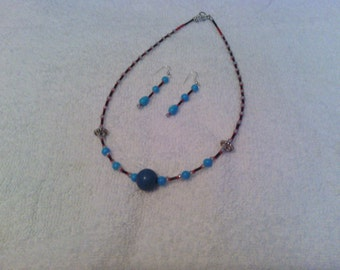 Victorian style glass choker necklace