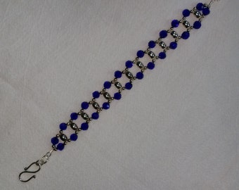 Deep Blue Crystal Bracelet