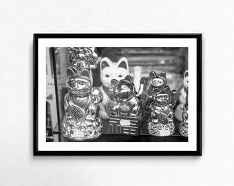 Lucky Cats / Montmartre / Paris / France / Black and White / Decoration / Photo Frame / Fine Art