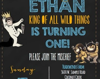 Wild Things Birthday Invitation