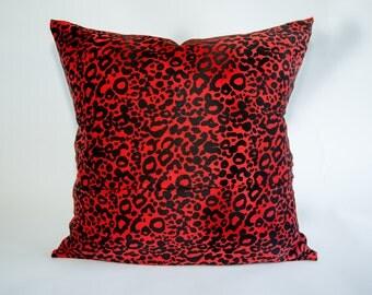 Leopard Print Pillow. 18x18 Pillow Cover. Decorative Pillows. Custom Pillow. Accent Pillow. Unique Pillows.