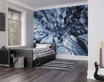 Photo Wallpaper Wall Mural for Bedroom Decor, Living Room Decor, Office or Dining Room - Digital Crater Large Wall Mural UK