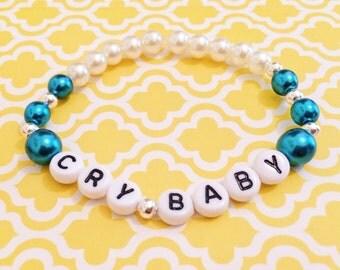 "Alphabet Bead Bracelet ""Cry Baby"" (ddlg style)"