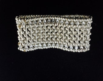 Silver and cubic zirconia bracelet