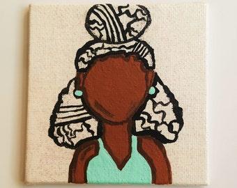 Natural Hair Magnet - Gina - Refrigerator Magnet - Curly Hair - Natural Hair Art