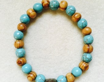 Turquoise and Wood