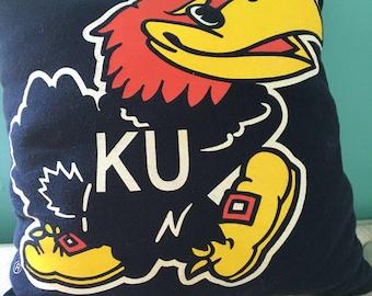 Kansas Jayhawk T Shirt pillow
