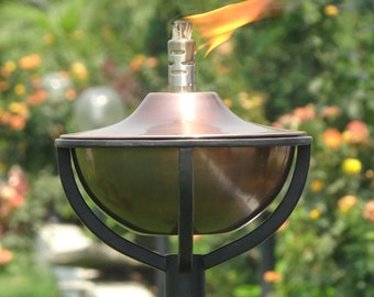 Copper Oil Torch 'Classica - Garden Lighting - Wedding Decor