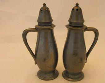 Salem Pewter Salt & Pepper Shakers #996