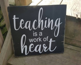 Teacher Gift   Wood Sign   Gift for Teacher   Rustic Wood Decor   Classroom Decor   Christmas Gift   Made in Canada
