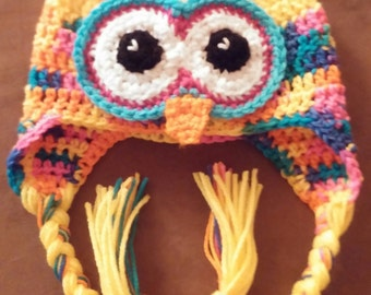 Owl winter hat