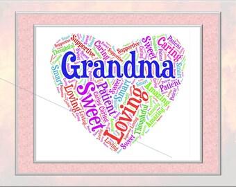 Grandma Word Art