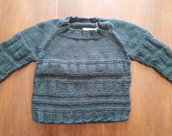 Patterned Raglan Sleeve Sweater - Child's