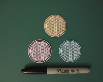 Flower Of Life Magnet Set, Sacred Geometry, Free Shipping