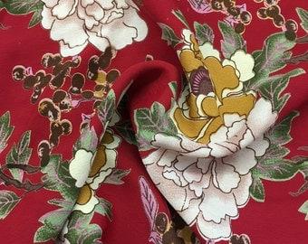 100% Rayon Crepe Spanish Gardenia Print