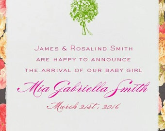 Baby girl birth announcement - Its a girl !