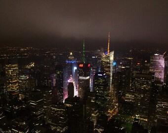 New York City in the Fog