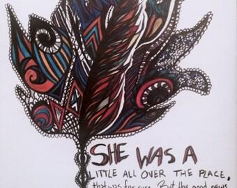 Leaf art drawing