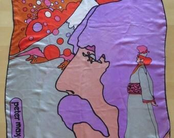 Original 1960s Peter Max scarf