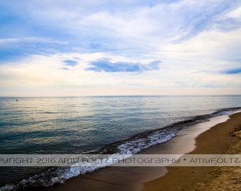 Lake Michigan art - beach photography - waterscape - fine art photography - beach house decor