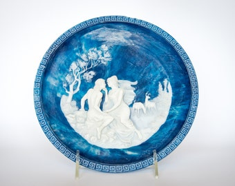 The Isle of Circe by Alan Brunettin - The Voyage of Ulysses - Vintage 1984 Incolay Cameo Collector Plate - Limited Edition